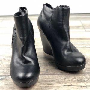 TORRID black Side Zip Wedge Booties (Wide Width)